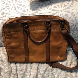 Leather Fossil Slim Brief case
